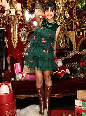 תחפושות קוספליי ירוק טרילן אביזרי קוספליי חג המולד / קרנבל / ראש השנה