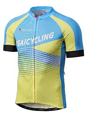 ספורטיבי לגברים שרוול קצר אופנייםנושם / ייבוש מהיר / עמיד אולטרה סגול / הגנה בפני קרינה / לביש / נגד חשמל סטטי / חדירות גבוהה לאוויר (מעל