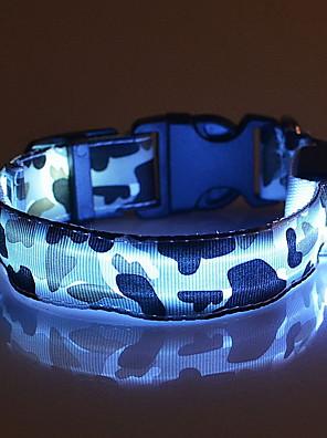 katten / honden Kraag LED verlichting / Verstelbaar/Uitschuifbaar Camouflage Rood / Wit / Groen / Blauw / Roze / Geel / Oranje Nylon