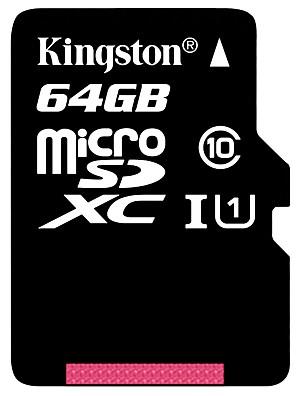 64GB בכיתה המקורית קינגסטון 10 כרטיס זיכרון מיקרו SD microSDHC tf פלאש במהירות גבוהה אמיתית