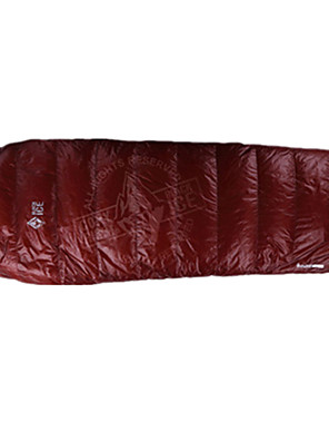 שק שינה שק שינה מומיה יחיד 10 פלומת אווז 1000 ' 190X50 קמפינג / לטייל / בתוך הביתעמיד למים / מוגן מגשם / עמיד ברוח / מאוורר היטב / מתקפל