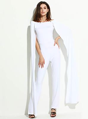 Szexi Női Jumpsuits,Rövid ujjú,Közepes vastagságú,Mikroelasztikus,Poliészter