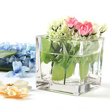 Table Centerpieces Square Glass Centerpiece Table Deocrations
