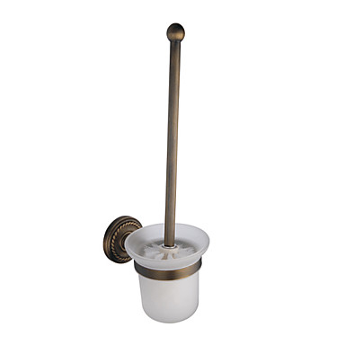 Buy Toilet Brush Holder Antique Brass Wall Mounted 405 x 105 105mm (15.9 4.13 inch)