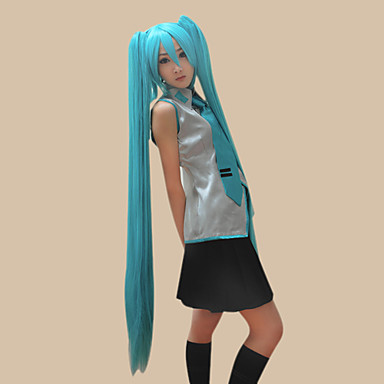 Buy Cosplay Wigs Vocaloid Hatsune Miku Blue Extra Long / Straight Anime/ Video Games 120 CM Heat Resistant Fiber Female