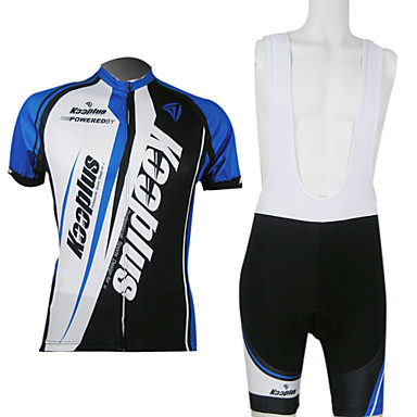 KOOPLUS® Cycling Jersey with Bib Shorts Men's / Unisex Short Sleeve Bike Breathable / Quick Dry / Front Zipper / 3D PadPadded