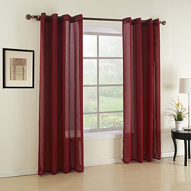 two panels curtain modern solid dining room material