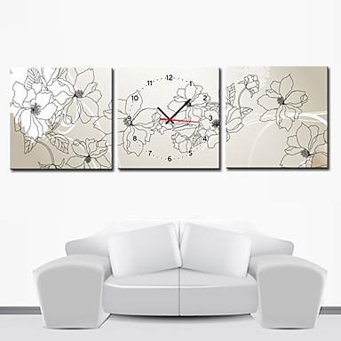 12 24 moderno orologio da parete stile floreale in for Orologi parete moderni