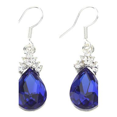 Blue Water-drop Shape Earrings