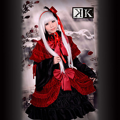 Buy Inspired K Anna Kushina Anime Cosplay Costumes Suits / Dresses Patchwork Red Long Sleeve Dress Hat Shawl