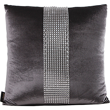 Traditional Gray Synthetic Decorative Pillow Cover 526206 2016 ? $13.49