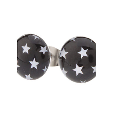 10 mm The Stars Symbol Stainless Steel Stud Earrings