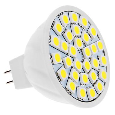 5W GU5.3(MR16) LED Spotlight MR16 30 SMD 5050 420 lm Natural White DC 12 V