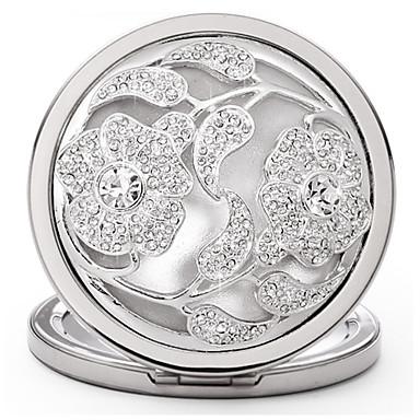 design luxe cristal de fleur de maquillage miroir de poche. Black Bedroom Furniture Sets. Home Design Ideas