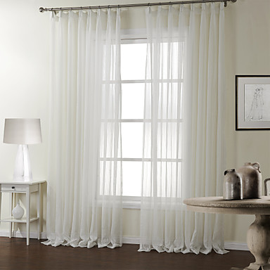 Curtain Modern , Stripe Bedroom Polyester Material Sheer Curtains ...