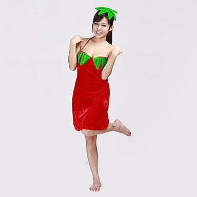 Carino rosso fragola corduroy costume di halloween 2 for Costume piscina 2 pezzi