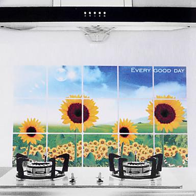 Buy 75x45cm Sunflower Pattern Oil-Proof Water-Proof Hot-Proof Kitchen Wall Sticker