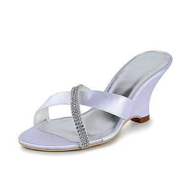 Ivory Wedding Shoes With Purple Inside Heel