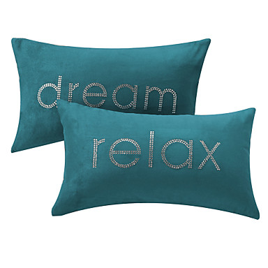 Throw Pillows That Say Relax : Set of 2 Relax and Dream Text Polyester Decorative Pillow Cover 778348 2017 ? $22.49