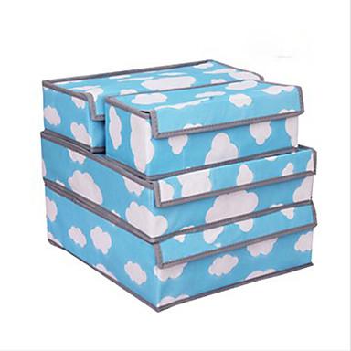 Cielo azul y modelo blanco de la nube 4 piezas ropa - Cajas almacenaje ropa ...