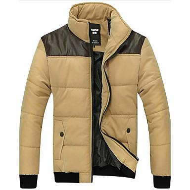 Men's Contrast Color Solicing Warmth Outwear