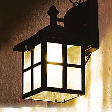 Solar Wall Lights White : Vintage PIR Motion Sensor Solar LED Wall Light Garden Lights In Little House Shape 784134 2017 ...