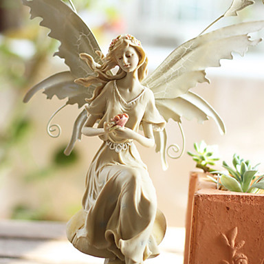 """12""""Country Type Angle Artistic Polyresin Collectible"""
