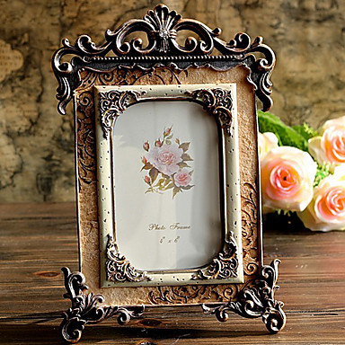 """10.25""""H Retro Style Luxuriant Table Top Picture Frame"""