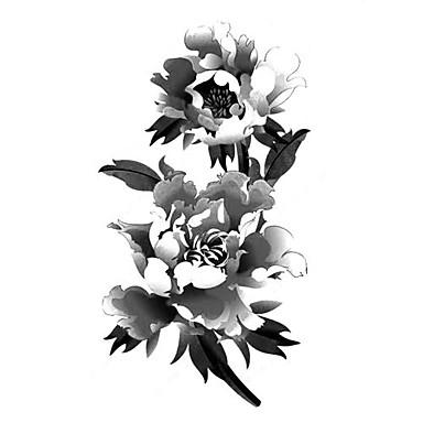 5 pi ces pivoine tatouage temporaire imperm able hm449b de 1087758 2017. Black Bedroom Furniture Sets. Home Design Ideas