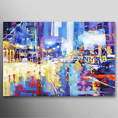 Iarts hand pintado paisagem pintura a leo cidade moderna - Fotos de cuadros modernos ...