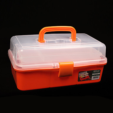 (32.6*19*14.5) Plastic 3 Layers Multifunctional Tool Boxes