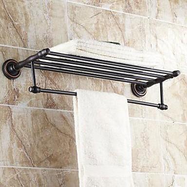 Buy Towel Bar / Bathroom Shelf Oil Rubbed Bronze Wall Mounted 630x 265 x 66mm (24.8 x10.43x 2.59 inch) Brass Traditional