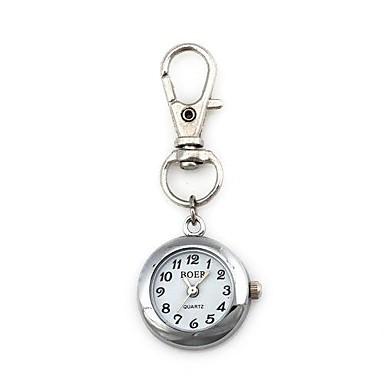 Unisex Round Pattern Quartz Metallic Keychain Watch Cool Watches Unique Watches Fashion Watch