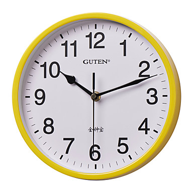 9 h modern breve reloj de pared amarillo 1356591 2017 - Reloj de pared moderno ...