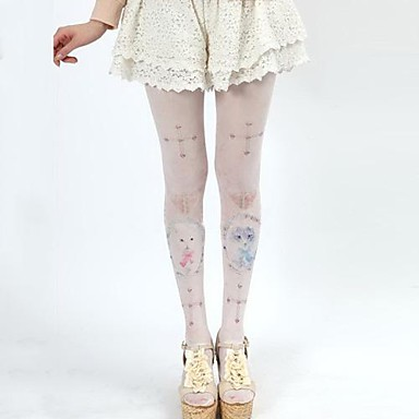 Buy Candy Girl Cute Cat & Cross Pattern Sweet Lolita Stockings Tights