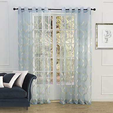 blue bedroom polyester sheer curtains shades 1449061 2017