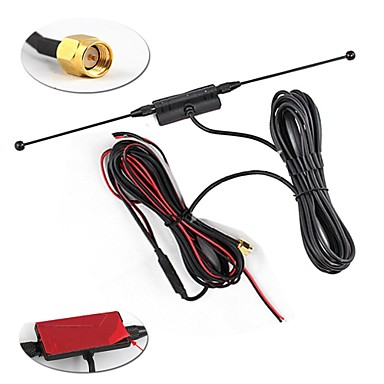 In Car Radio Digital TV Antenna With Amplifier FM 4.2M Wire S097