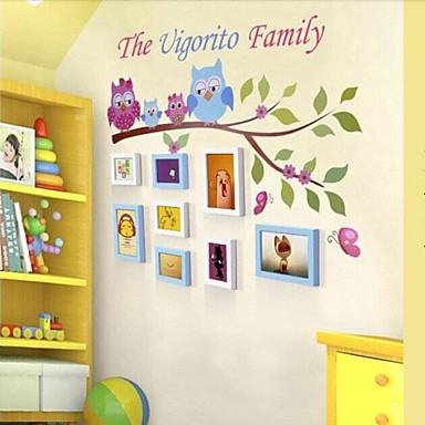 2 ColorsPhoto Frame Set of 8 with Wall Sticker