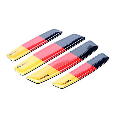 Simple Germany Flag Pattern Car Door Edge Guard Protector Trim Sticker (4 Pcs Kit)