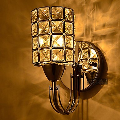 Crystal/Bulb Included Wall Sconces/Reading Wall Lights , Modern/Contemporary E12/E14 Metal ...