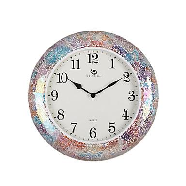18 4 h estilo moderno mosaico color ronda del reloj de - Reloj de pared moderno ...
