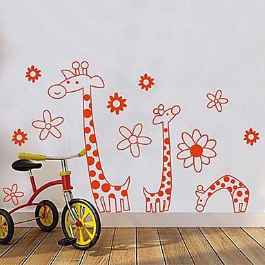 ® Cartoon Arancione giraffa Fiori dei bambini Camera dei bambini ...