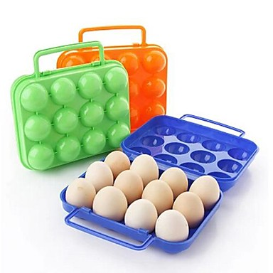 12 girds Plastic Egg's Boxes(Random Color)