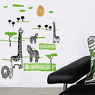 ® fumetto nero Giraffa Zebra Foresta bambini Camera dei bambini ...