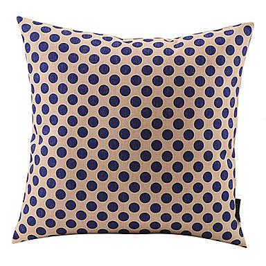 Buy Dark Blue Dots Cotton/Linen Decorative Pillow Cover