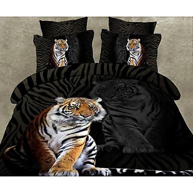 3d random pattern poly cotton 4 piece duvet cover sets. Black Bedroom Furniture Sets. Home Design Ideas