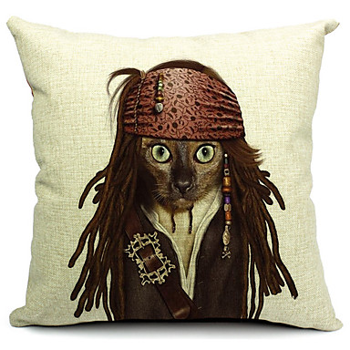 Buy Cool Cat Cotton/Linen Decorative Pillow Cover