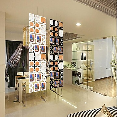 """16""""*16""""Modern Black White Wall Stickers Collection Picture Frames Photos 4 PC..."""