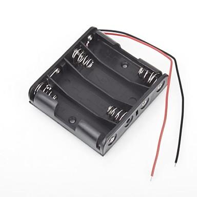 Buy 4 Packs Standard Battery Box Slot Holder Case AA 2A Batteries Stack 6V