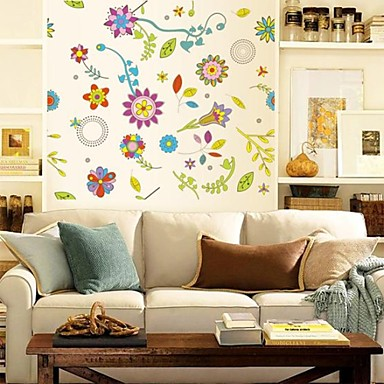 botanique romance floral stickers muraux autocollants avion autocollants muraux d coratifs. Black Bedroom Furniture Sets. Home Design Ideas